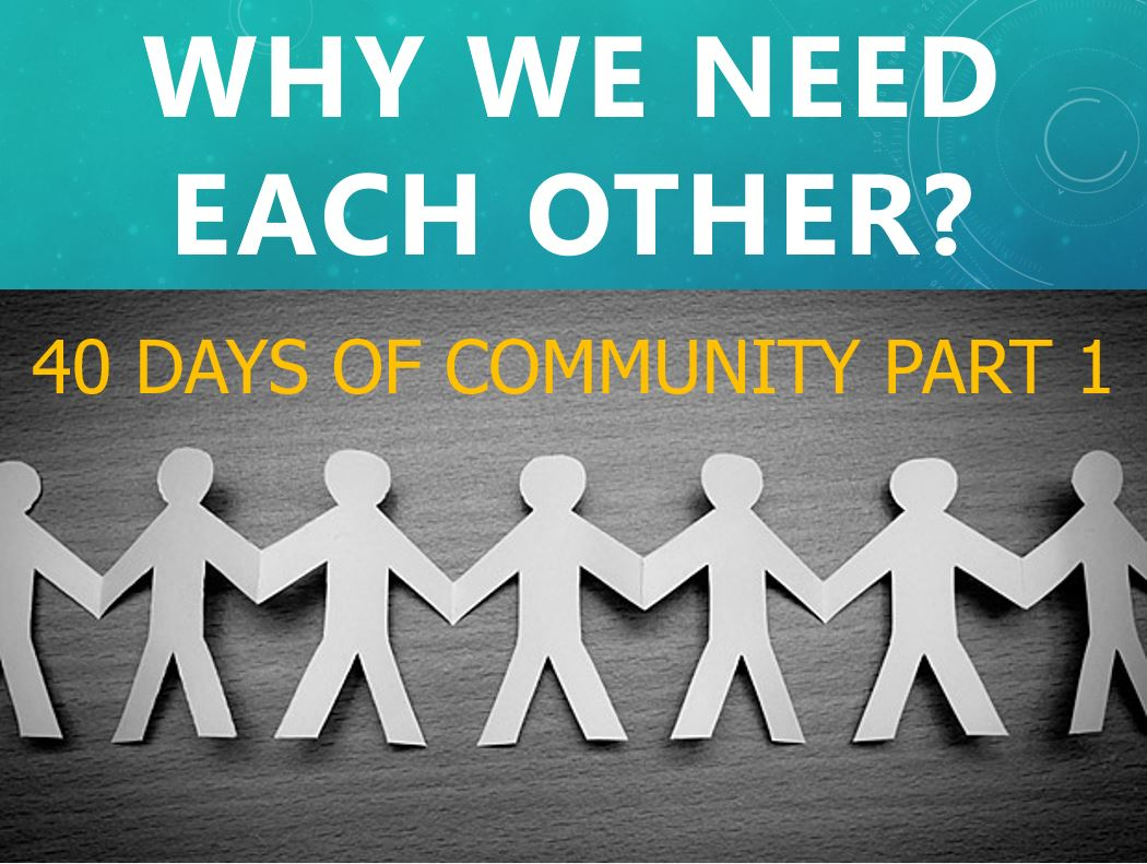 Why We Need Each Other